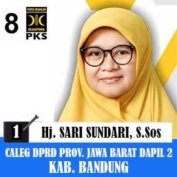 Sari Sundari PKS, Calon Legislatif DPRD Provinsi Jawa Barat 2019 Dapil 2